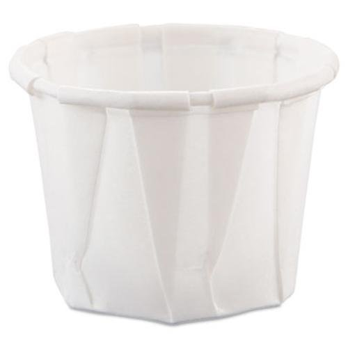 0.75 oz Treated Paper Soufflé Portion Cups in White - Goddess Pleats Wrap