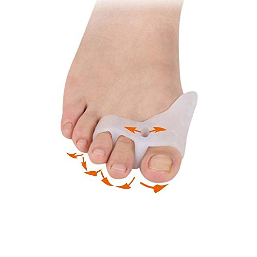 1Pair Silicone Bunion Corrector&Relief Protector-Treat Pain in Hallux Valgus Tailors Bunion, Big Toe Joint Hammer Toe Toe Separators Spacers Straighteners Splint Aid Surgery Treatment Type by XXJKHL (Image #2)