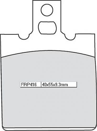 Ferodo brake pads frp416p Platinum Road (Brake Pads Moto)/Brake Pads frp416p Platinum Road (Motorcycle Brake Pads):