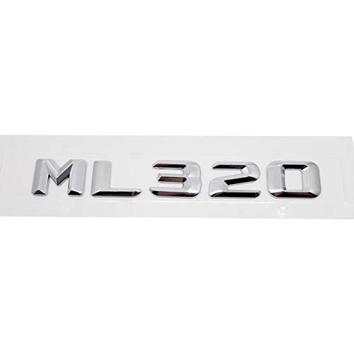 (Car Sticker For Mercedes Benz ML Class ML300 ML320 ML350 ML400 W163 W164 W166 Rear Trunk Emblem letters decals Auto Accessories - (Color Name: ML320, Size: Plastic))