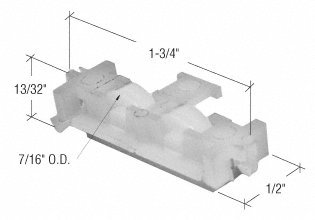 Sliding Window Roller with 7/16