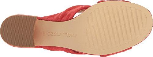 Sandalo Ivanka Trump Womens Sandalo Medio Rosso In Pelle Scamosciata