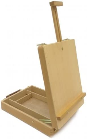 Portable Easel Art Drawing Painting Wood Table Desktop Box Board Student Supply