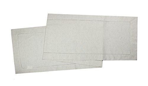 "Cotton Craft 2 Piece Flax Cotton Table Runner Set 16"" x 72""-"