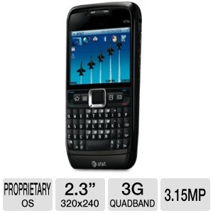 Nokia Av Connector - Nokia E71x AT&T Unlocked GSM Symbian 9.2 OS QWERTY Cell Phone - Black