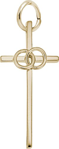 Rembrandt Wedding Cross Charm - Metal - Gold-Plated Sterling Silver