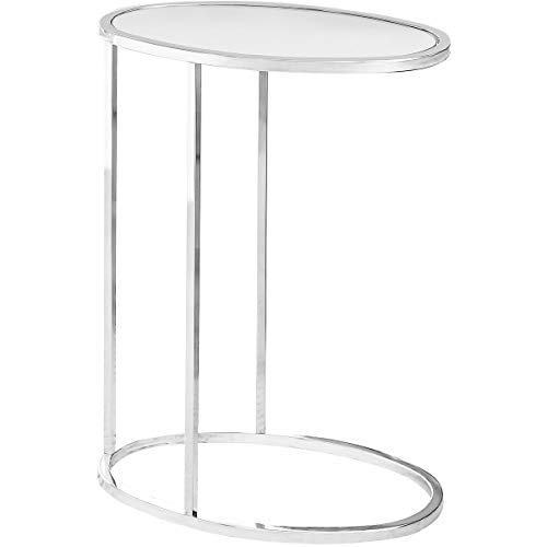 Decovio 15664-C Bethlehem 24 X 19 inch Chrome Accent End Table or Snack Table from Decovio