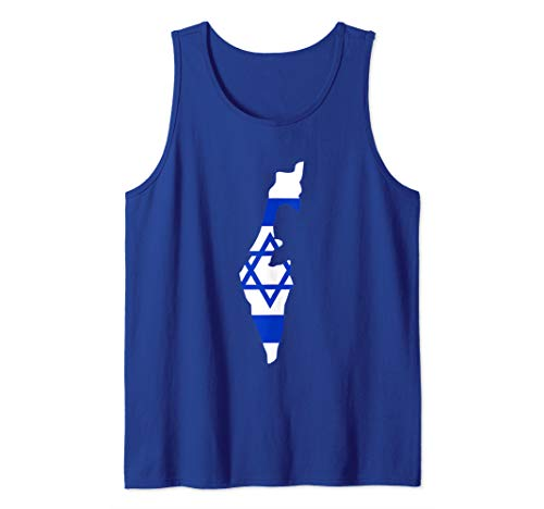 (Israel Flag Country Map  Tank Top)