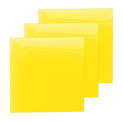 (Heat Transfer Vinyl Yellow Sheets, HTV Vinyl Bundle Iron on for T Shirts, Fabric, Clothing - 12
