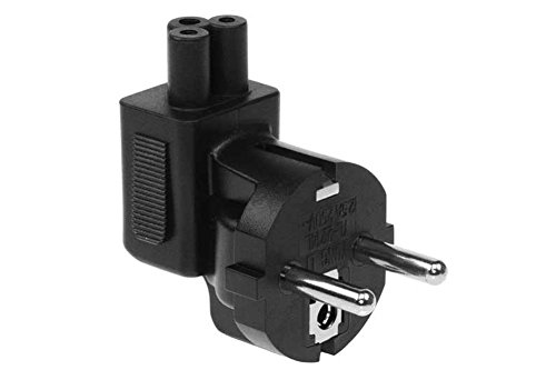 SF Cable European CEE7/7 Schuko plug to IEC C5 receptacle right angle plug adapter