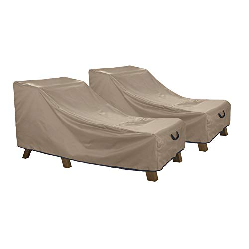 (ULTCOVER Waterproof Patio Lounge Chair Cover Heavy Duty Outdoor Chaise Lounge Covers 2 Pack - 76L x 32W x 32H inch)