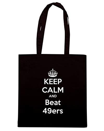 TKC0812 Nera AND BEAT Borsa CALM 49ERS KEEP Shopper EPxqH