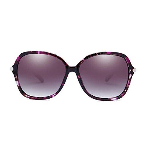 de sol Anti UVB polarizadas UVA Face Eye Gafas Round Long Gafas pequeñas UV Negro Color WLHW Purple Face E5Xq10f