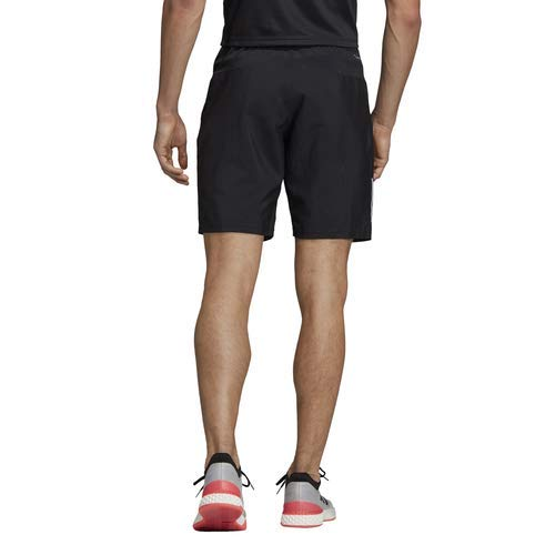 adidas Men's Club 3-Stripes 9-Inch Tennis Shorts, Black/White, X-Small by adidas (Image #3)