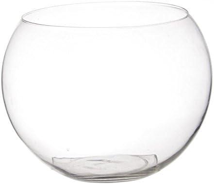 Paris Prix Vase en Verre Boule 25cm Transparent