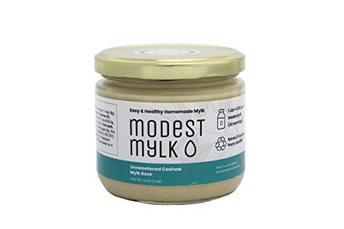 Almond Cashew Milk - Modest Mylk Unsweetened Cashew Mylk Base, Concentrate for Making Non-Dairy Milk, 11 oz. Jar, 42 Servings