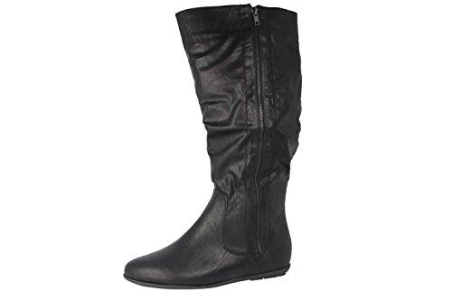 ANDRES MACHADO - Damen Stiefel - Schwarz Schuhe in Übergrößen