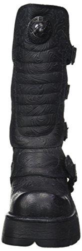 New Rock M-373qx-s2, Stivali da Motociclista Donna Nero (Black 001)