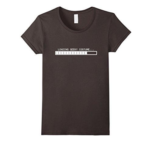 Womens Loading Geeky Costume T Shirt - Funny Halloween T-Shirt Medium Asphalt - Geeky Halloween Costumes Female