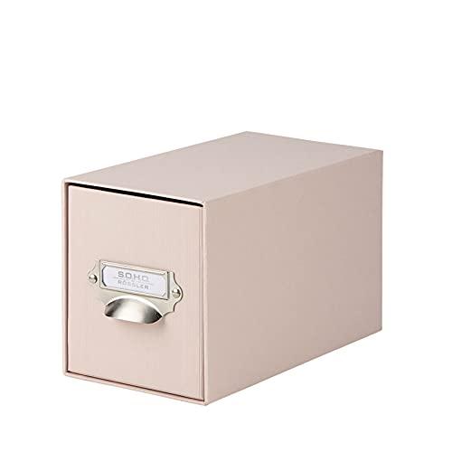 Rössler S.O.H.O. Caja De Almacenamiento Para Cd Con Soporte De Índice De Metal, En Polvo