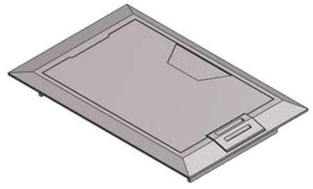 Floor Box Cover, 8-3/8 in, Aluminum