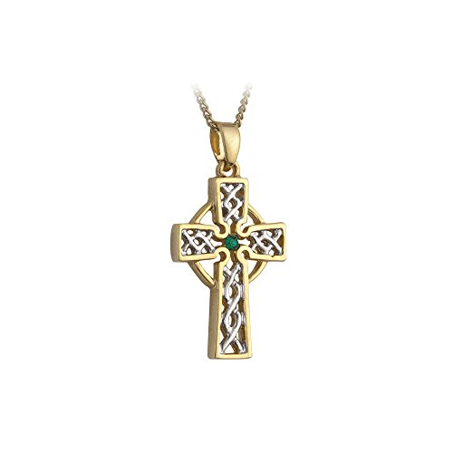 Filigree Celtic Cross Necklace Silver & Gold Plated Irish Made Filigree Cross