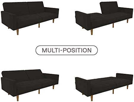 Amazon.com: Black Convertible Sofa Bed Living Room Furniture ...