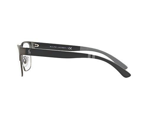 ... Polo Ralph Lauren - Montures de lunettes - Homme Argenté abgebürstet  gun metall - matt schwarz ... 349139550e98