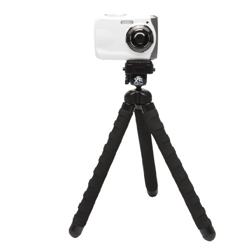 XSories Big Bendy Flexible Camera Tripod For GoPro, Digital, And Action Sports Cameras (Black)