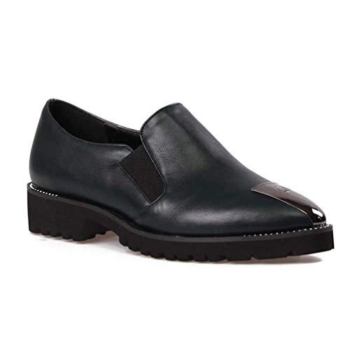 Talons Foncé Profondes Vert Nue carrés Chaussures JRenok Chaussures Bas Talons Peu sur Pointe Dames Chaussures Slip Femmes Orteils de Mode HUgFqn0U