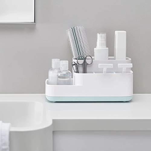 Price comparison product image Desktop Organizer Cosmetics Beauty Accessories Hair Tools Desktop Storage Storage Holder for Home Kitchen Bathroom Office (White)