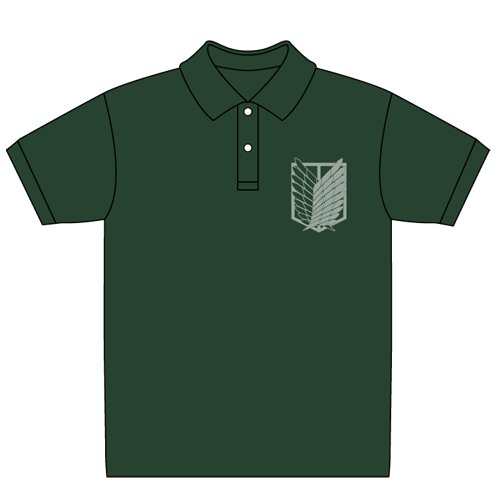 Attack on Titan Scouting Legion polo shirt British Green Size: XL (japan import) by Cospa