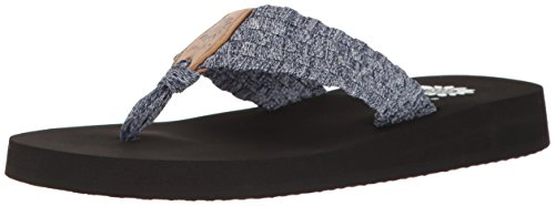 - Yellow Box Women's Soleil Wedge Sandal, Blue, 6 M US