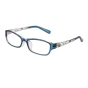Agstum Kids Classic Rectangle Optical Frame Girls Boys Glasses Clear Lens (Blue / Clear)