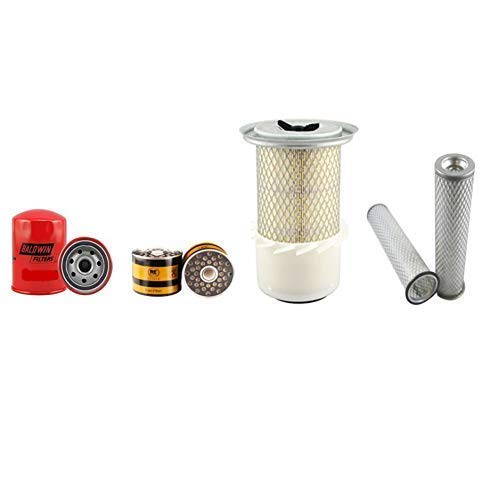 JCB 803 PLUS/SUPER Filter Service Kit w/Perkins 103 Eng. Air, Oil, Fuel Filters: