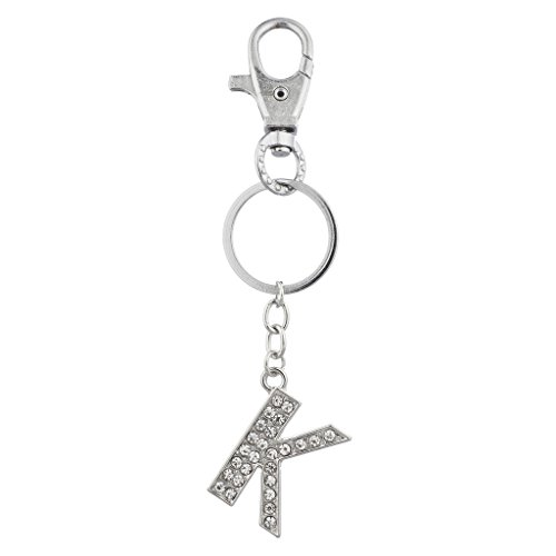 Lux Accessories Personalized Initial Keychain