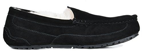 DREAM PAIRS Mens Sheepskin Fur Moccasins Slippers Black r0pUF7