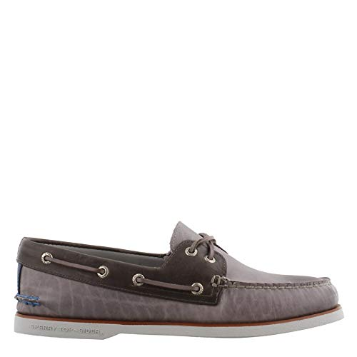 SPERRY Men's Gold Cup A/O 2-Eye Fairhaven Grey/Charcoal 14 M US