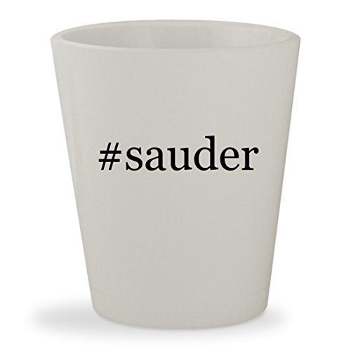 #sauder - White Hashtag Ceramic 1.5oz Shot Glass - Cherry Hill Wine Cabinet