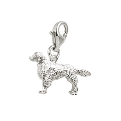 Rembrandt Charms Golden Retriever Charm with Lobster Clasp