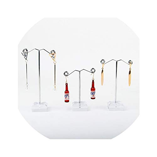 Beauty-inside 3Pcs Mini Earrings Rack Display Acrylic Earring Ear Studs Jewelry Rack Display Stand Storage Hanger Holder,3PCS (Jewlery Barn Box Pottery)