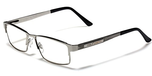 Metal Wire Rim Rectangular Frame Reading Glasses with Spring Hinge Various Strengths and Colors LARGE - Glasses With Hinges Spring