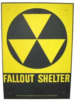 Genuine Collectible Fallout Shelter Sign ()