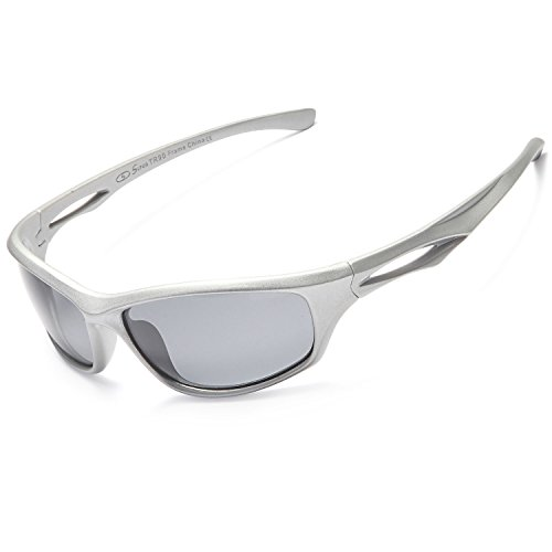 Siren Polarized Sports Sunglasses w Case TR90 Unbreakable Frame (Grey Lens Grey - Sport For Sunglasses Women