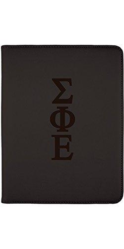 (Sigma Phi Epsilon - Letters Design on Black 2nd-4th Generation iPad Swivel Stand Case)