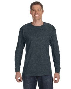 - Jerzees Men's Heavyweight Blend 50/50 Long Sleeve T-Shirt (Black Heather, XX-Large)