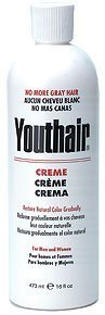 Youthair Creme for Men and Women Natural Color Gradually 16oz/473ml (Pack of 3) by Youthair