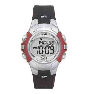 Timex 1440 Sports Full Size Digital Watch - Silver/Black