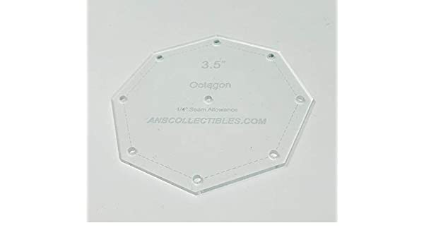 Choice of Size Acrylic Hexagon Quilt Template 10.25