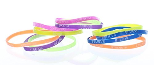 Rubber Thin Inspirational Bracelets Rubber